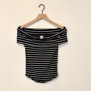 Free People Striped Off the Shoulder Top